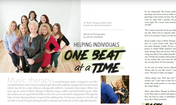 Helping Individuals One Beat at a Time | Music Therapy in Motion, LLC | Area Woman's Magazine
